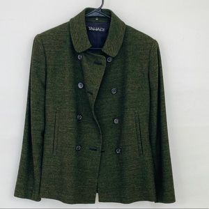 NWOT Tahari Olive Green Wool Blazer